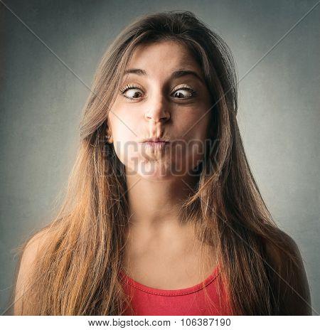 Woman making jokes