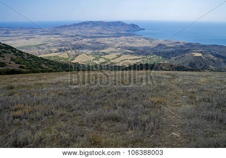 Semi-desert Landscape On The Shores Of The Black Sea. Crimea.