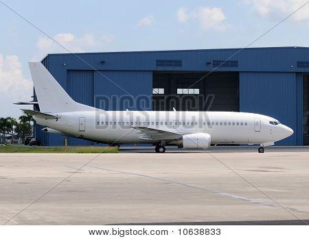 White Passenger Jet