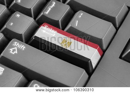 Enter Button With Egypt Flag