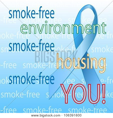 Blue ribbon banner