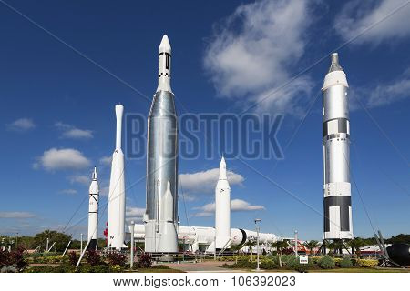 CAPE CANAVERAL., FLORIDA - 1 November 2014: Kennedy Space Center Rocket Garden