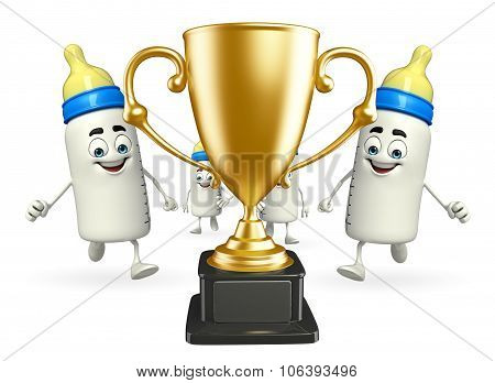 Baby Bottle Characters With Trophy