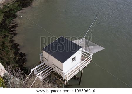 Fishing Cabin In The Estuary.