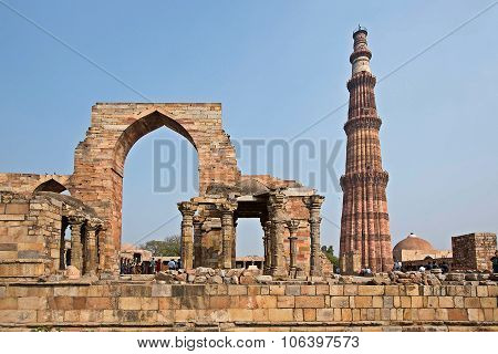 Qutub Minar Tower In New Delhi