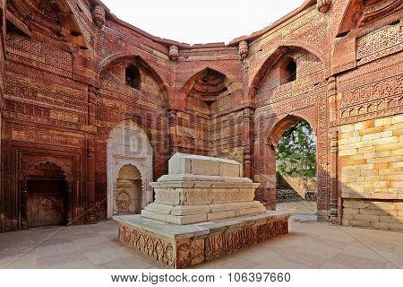 Islamic Grave With Inscriptions At Qutub Minar In Delhi