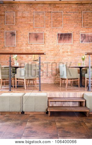 Restaurant In Brick Loft