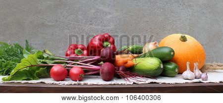 Set of different vegetables.