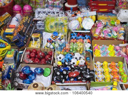 Colorful made in China toys and stuffs for sale