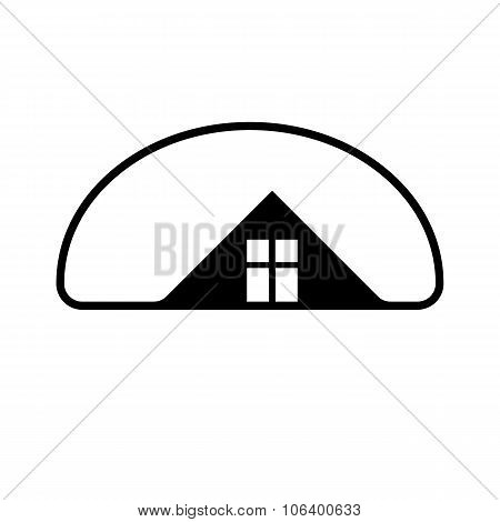 Property Developer Vector Stylish Estate Agency Symbol. Creative Construction Icon, House. Commercia