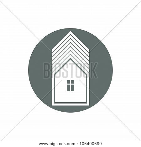 Real Estate Icon, Vector Abstract House. Property Developer Symbol, Conceptual Sign, Best For Use In