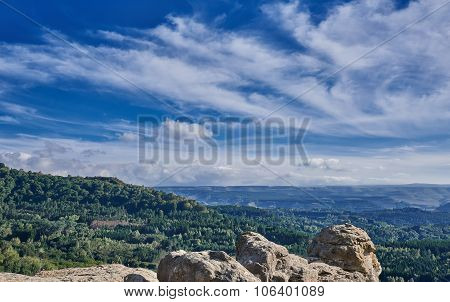 Panoramic View On Foothills Of Caucasus