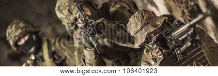 Soldier With Aimed Rifle