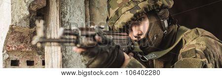 Marine During Training