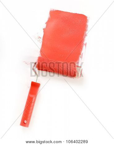 Red paint on a white background