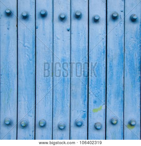 Blue Metal Door