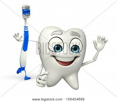 Toothbrush Character Is Running