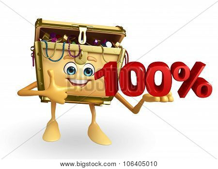 Treasure Box Character With Percent Sign