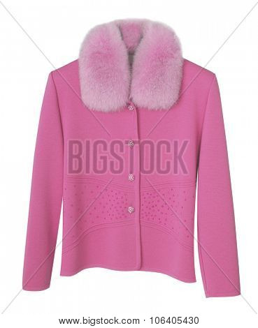 pink jacket isolated on white background
