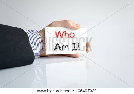 Who Am I Text Concept
