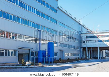 Administrative Or Industrial Building With Three Air Collector Plant For The Production Of Sugar