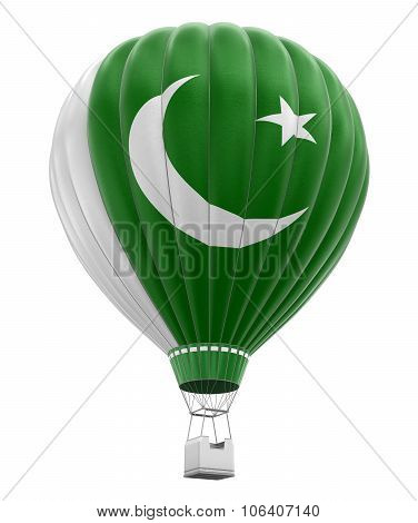Hot Air Balloon with Pakistani Flag (clipping path included)