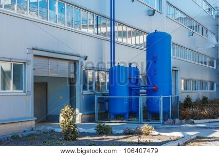 Administrative Or Industrial Building With Three Air Collector Plant For The Production Of Sugar Fro