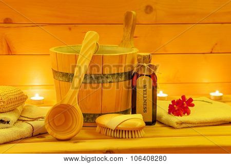 Sauna Accessories in Candlelight