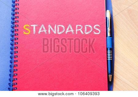 Standards Write On Notebook