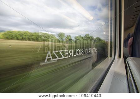 Italian Landscape Seen Through The Window