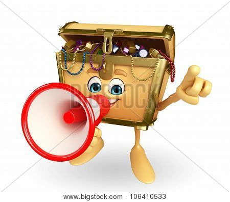 Treasure Box Character With Loudspeaker