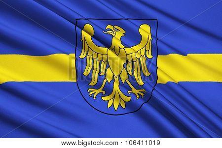 Flag Of Silesian Voivodeship In Southern Poland