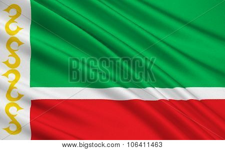 Flag Of Republic Of Chechnya, Russian Federation