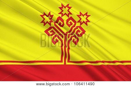 Flag Of Republic Of Chuvash, Russian Federation