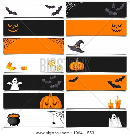 Halloween web banners. Vector eps-10.
