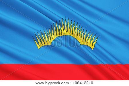 Flag Of Murmansk Oblast, Russian Federation