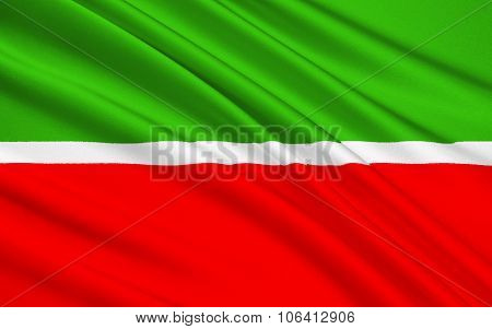 Flag Of Republic Of Tatarstan, Russian Federation