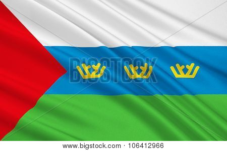 Flag Of Tyumen Oblast, Russian Federation