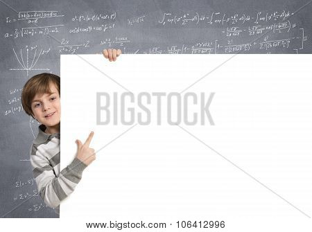 Boy with banner