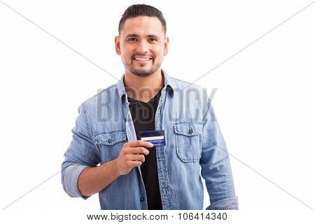 Happy Young Man With A Credit Card