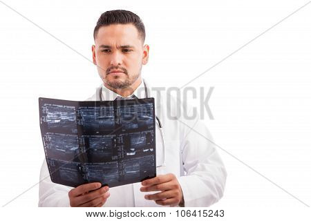 Doctor Examining Some X-rays