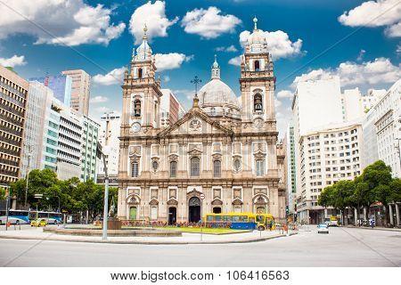 Candelaria Church in downtown in Rio de Janeiro, Brazil.