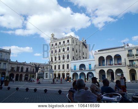 Street Scene In Havana, Cuba.