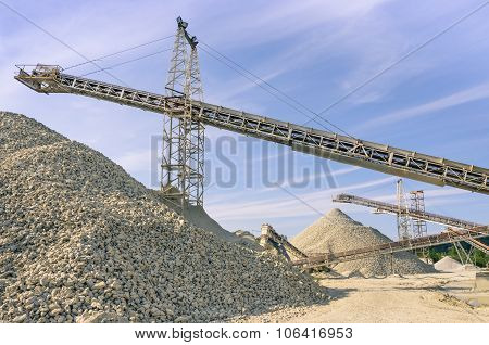 Industrial Gravel Quarry And Sand Stone Refinery
