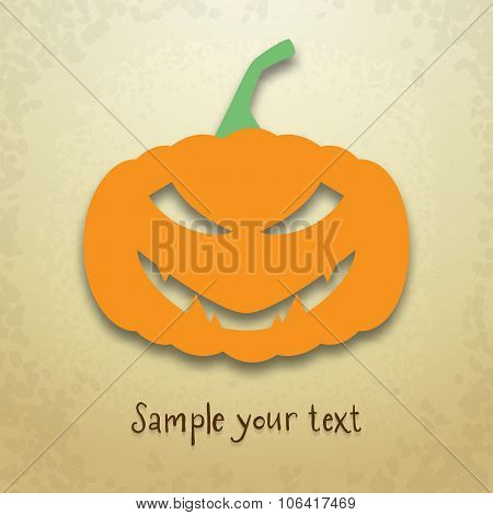 Halloween Card With Sly Pumpkin
