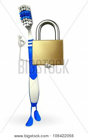 Toothbrush Character With Lock