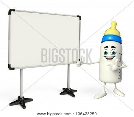 Baby Bottle Character With Display Board