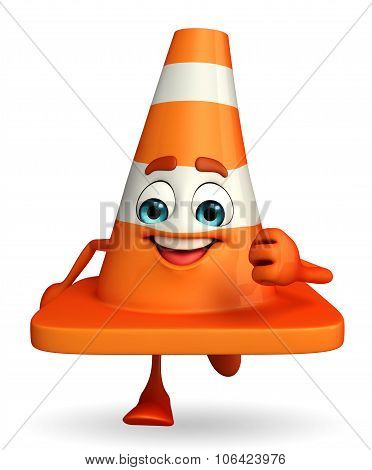 Construction Cone Character Is Running
