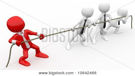3D human pulling a rope