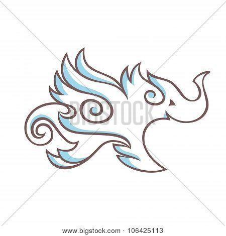 Winged elephant.